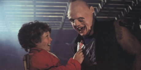 "Lawrence ""Chunk"" Cohen shares his baby ruth"