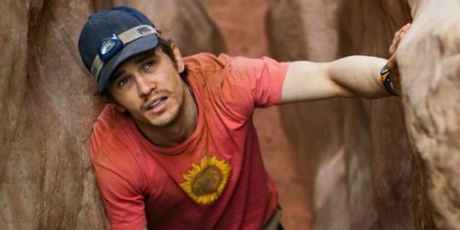 Aron Ralston waits for help