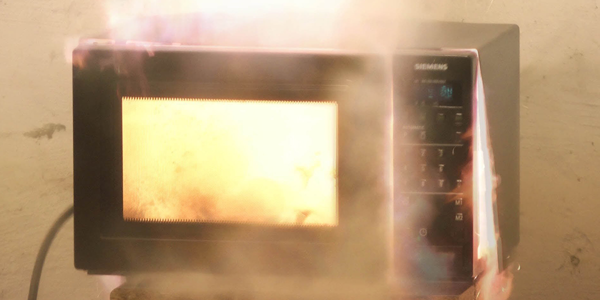 An exploding microwave can't be good for your home wifi.