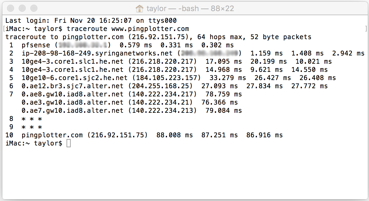Traceroute contains good information but seeing changes over time is difficult.