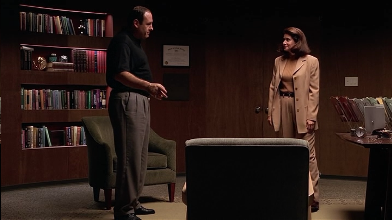 Dr. Melfi has authority over Tony Soprano and has the certificate on the wall to prove it