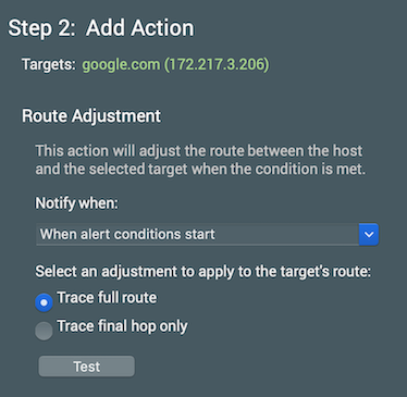 image of route adjustment details
