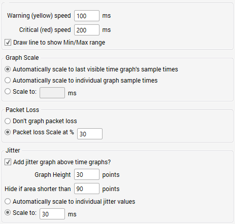 Display Options   PingPlotter