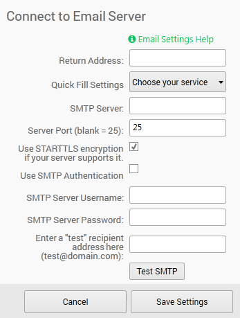 Email Setup (for alerts) | PingPlotter